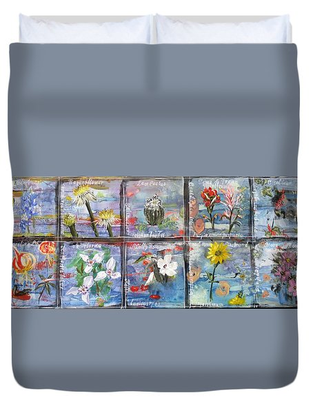 native Texas wildflowers A Duvet Cover by Michael Dillon