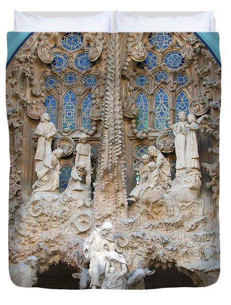 Nativity Barcelona Duvet Cover by Victoria Harrington