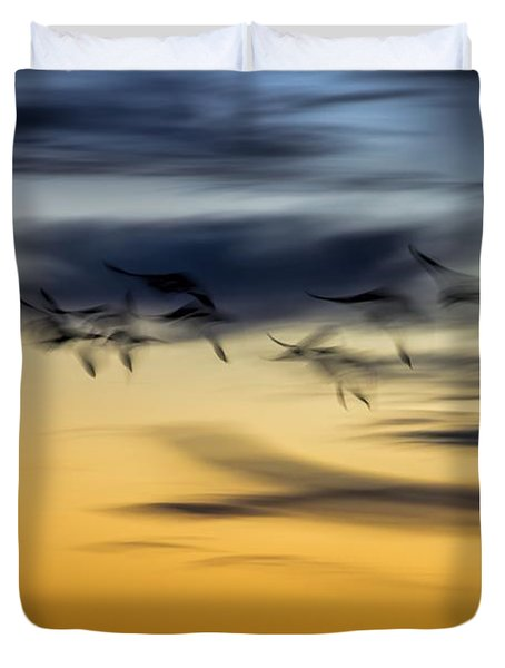 Natural Abstract Art Duvet Cover by Peggy Hughes