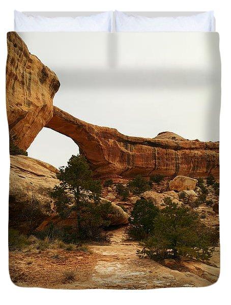 Natural Bridge Southern Utah Duvet Cover by Jeff Swan