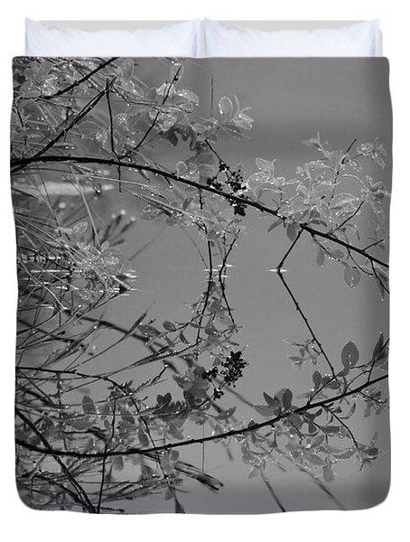 Natural Reflection Duvet Cover by Karol Livote