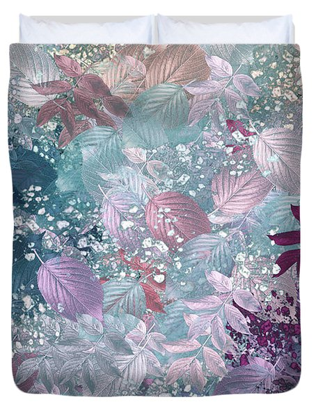 Naturaleaves - s1002b Duvet Cover by Variance Collections