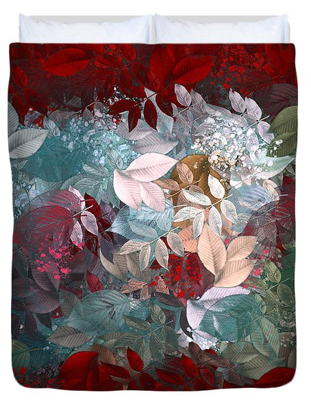 Naturaleaves - s20-03c Duvet Cover by Variance Collections
