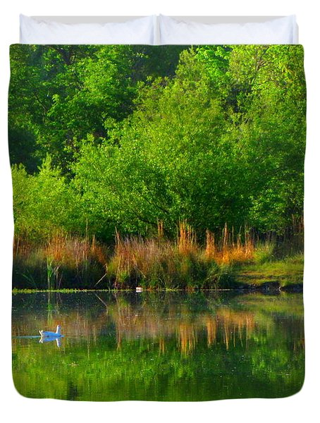Naturally Reflected Duvet Cover by Joyce Dickens