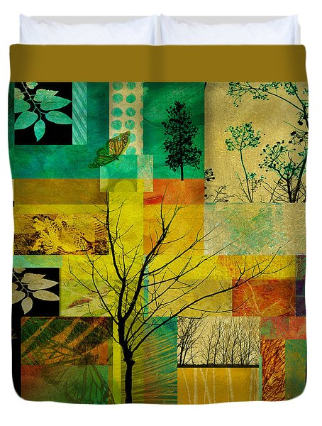 Nature Patchwork Duvet Cover by Ann Powell