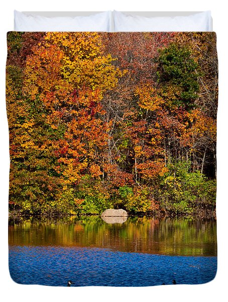 Natures Colorful Autumn Duvet Cover by Karol Livote