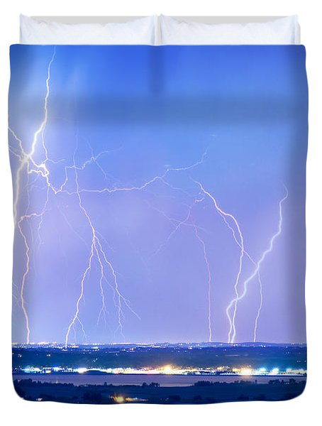 Natures Light Show Over The Boulder Reservoir  Duvet Cover by James BO  Insogna