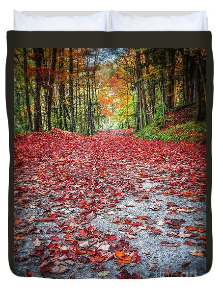 Nature's Red Carpet Duvet Cover by Edward Fielding