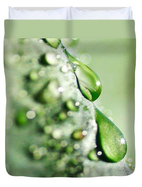 Nature's Teardrops Duvet Cover by Kaye Menner