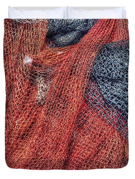 Nautical Nets Duvet Cover by Heidi Smith