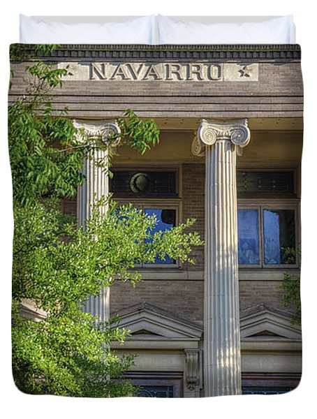 Navarro County Courthouse Duvet Cover by Joan Carroll