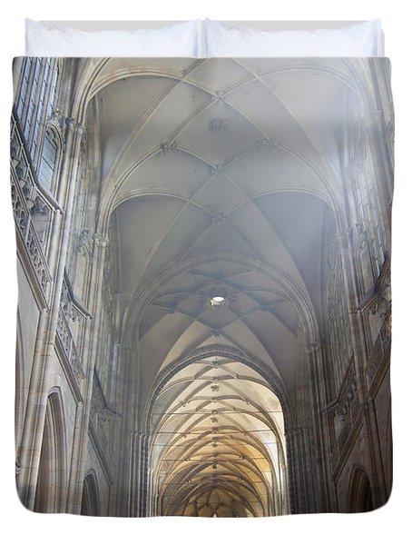 Nave Of The Cathedral Duvet Cover by Michal Boubin