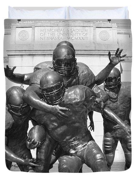 Nebraska Football Duvet Cover by John Daly