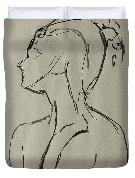 Neckline Duvet Cover by Peter Piatt