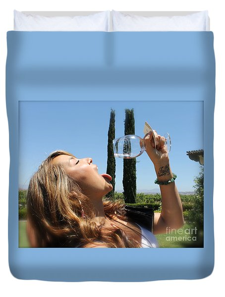 Necture Of The Gods...every Last Drop Duvet Cover by Pamela Walrath