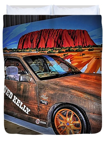 Ned Kelly's Car at Ayers Rock Duvet Cover by Kaye Menner