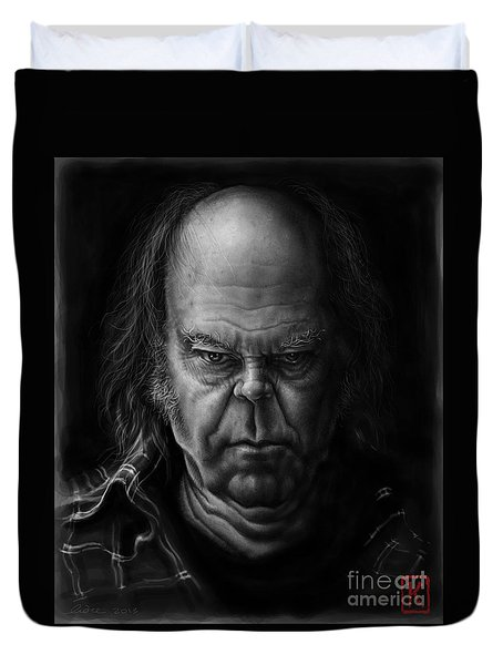 Neil Young Duvet Cover by Andre Koekemoer