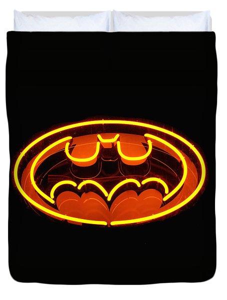 Neon Knight - Hero Rising Duvet Cover by Steven Milner
