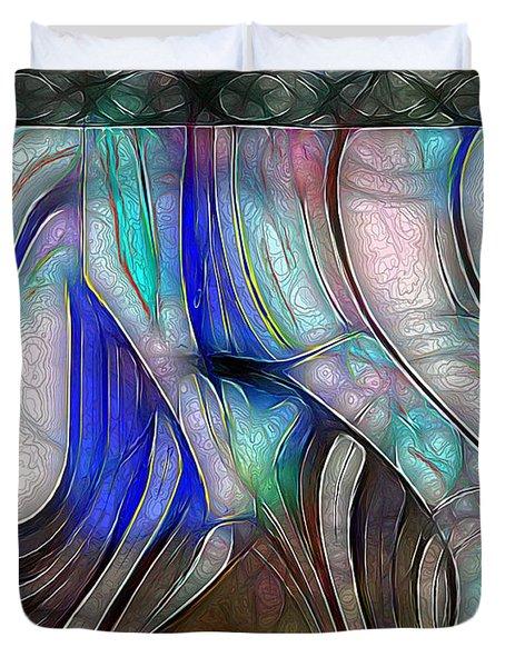 Nerve Center Duvet Cover by RC DeWinter
