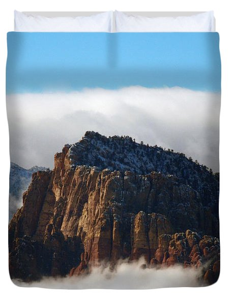 Nestled In The Clouds Duvet Cover by Alan Socolik