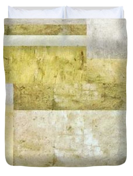 Neutral Study No. 5 Duvet Cover by Michelle Calkins