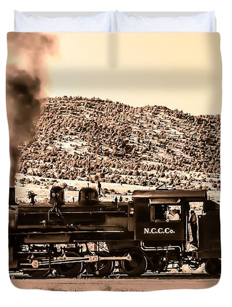 Nevada Northern Railway Duvet Cover by Robert Bales