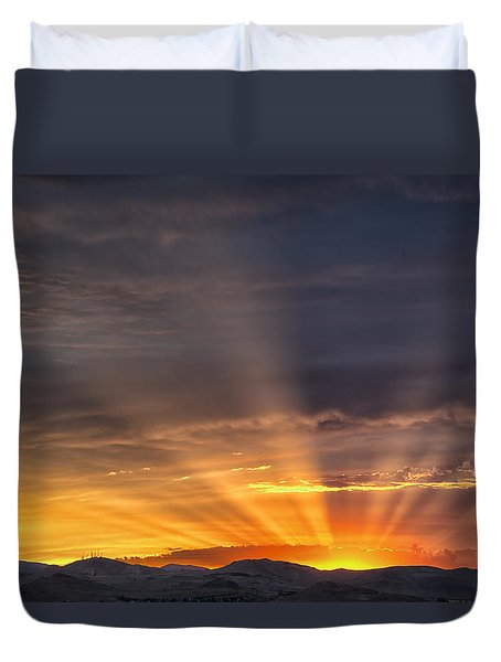 Nevada Sunset Duvet Cover by Janis Knight
