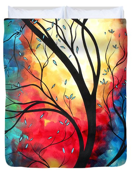 New Beginnings Original Art by MADART Duvet Cover by Megan Duncanson