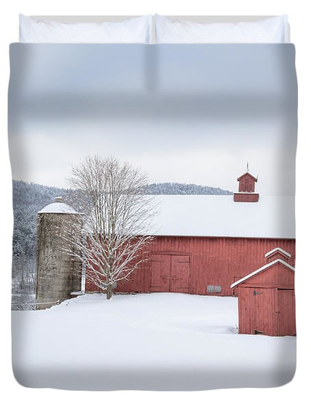 New England Barns Duvet Cover by Bill  Wakeley