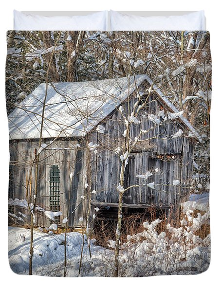 New England Winter Woods Duvet Cover by Bill  Wakeley