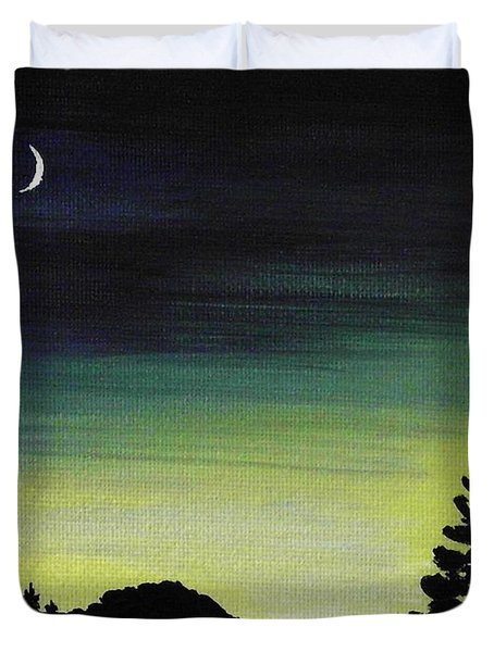 New Moon Duvet Cover by Anastasiya Malakhova