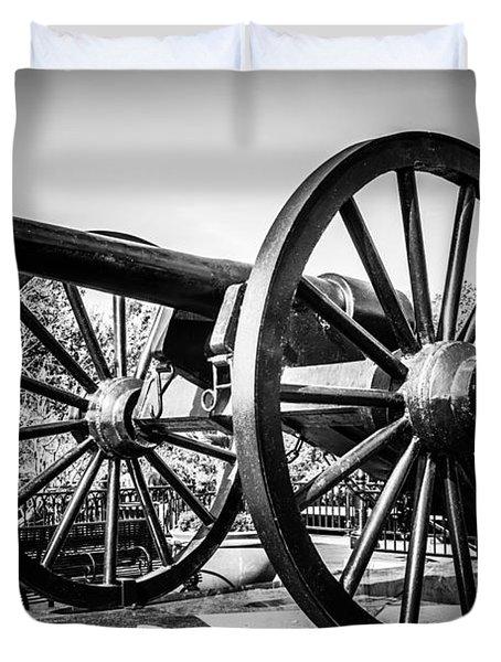 New Orleans Washington Artillery Park Cannon Duvet Cover by Paul Velgos