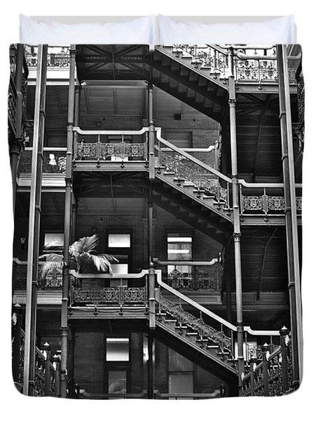New Photographic Art Print For Sale Bradbury Building Downtown La Duvet Cover by Toula Mavridou-Messer