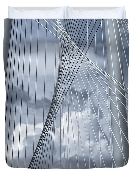 New Skyline Bridge Duvet Cover by Joan Carroll