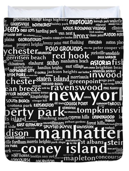 New York 20130709bw Duvet Cover by Wingsdomain Art and Photography