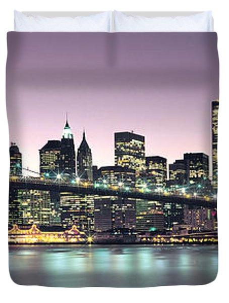 New York City Skyline Duvet Cover by Jon Neidert