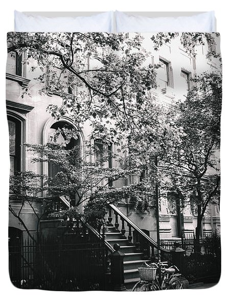 New York City - Summer - West Village Street Duvet Cover by Vivienne Gucwa