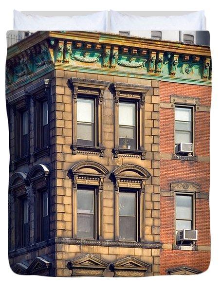 New York City - Windows - Old Charm Duvet Cover by Gary Heller