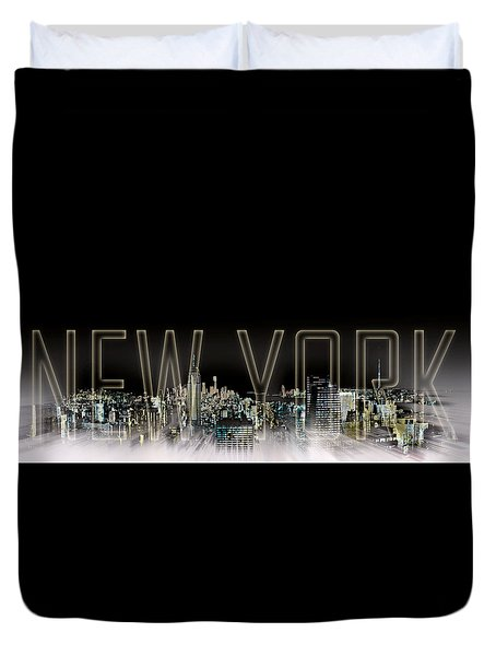 NEW YORK Digital-Art No.2 Duvet Cover by Melanie Viola