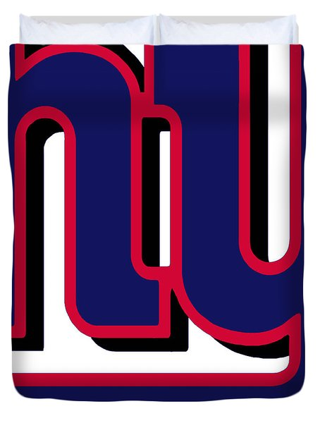 New York Giants Football 2 Duvet Cover by Tony Rubino
