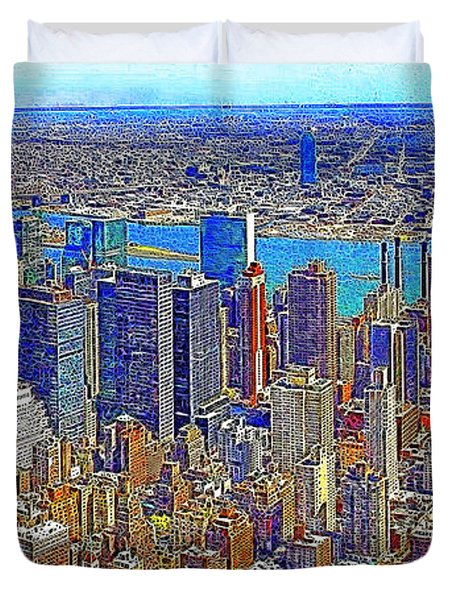 New York Skyline 20130430 Duvet Cover by Wingsdomain Art and Photography