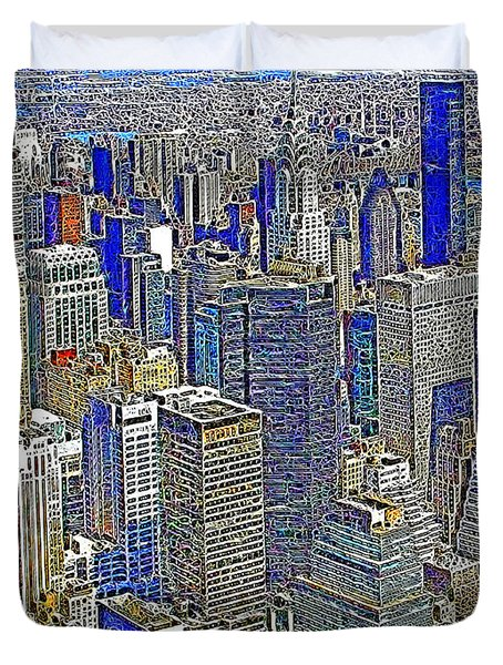 New York Skyline 20130430v2 Duvet Cover by Wingsdomain Art and Photography