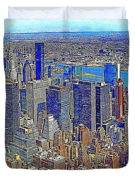 New York Skyline 20130430v3 Duvet Cover by Wingsdomain Art and Photography