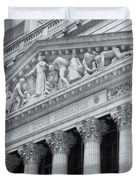 New York Stock Exchange II Duvet Cover by Clarence Holmes