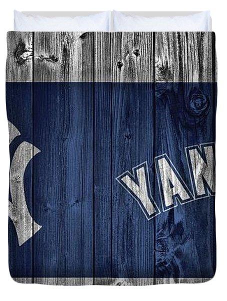 New York Yankees Barn Door Duvet Cover by Dan Sproul
