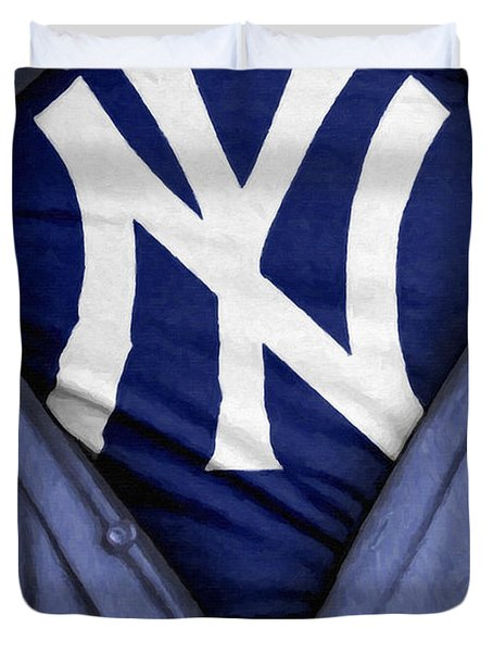 New York Yankees Fan Duvet Cover by Antony McAulay