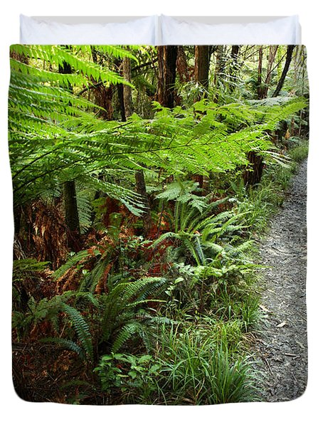 New Zealand Forest Duvet Cover by Les Cunliffe