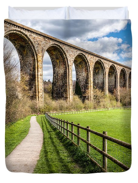 Newbridge Viaduct Duvet Cover by Adrian Evans