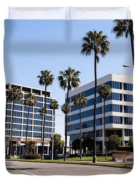 Newport Beach Office Buildings Orange County California Duvet Cover by Paul Velgos
