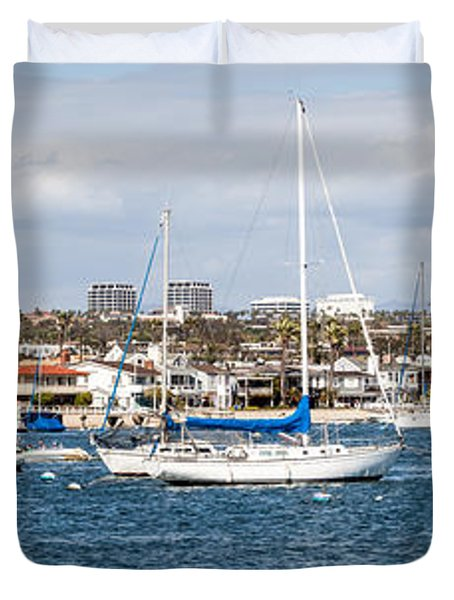 Newport Beach Panorama Duvet Cover by Paul Velgos